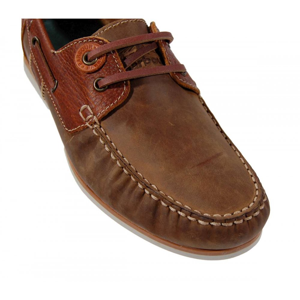 barbour flinders boat shoe beige mens shoes from attic