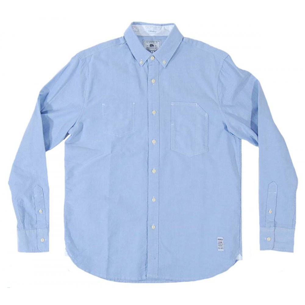 Penfield newhall oxford shirt blue mens shirts from for Mens blue oxford shirt