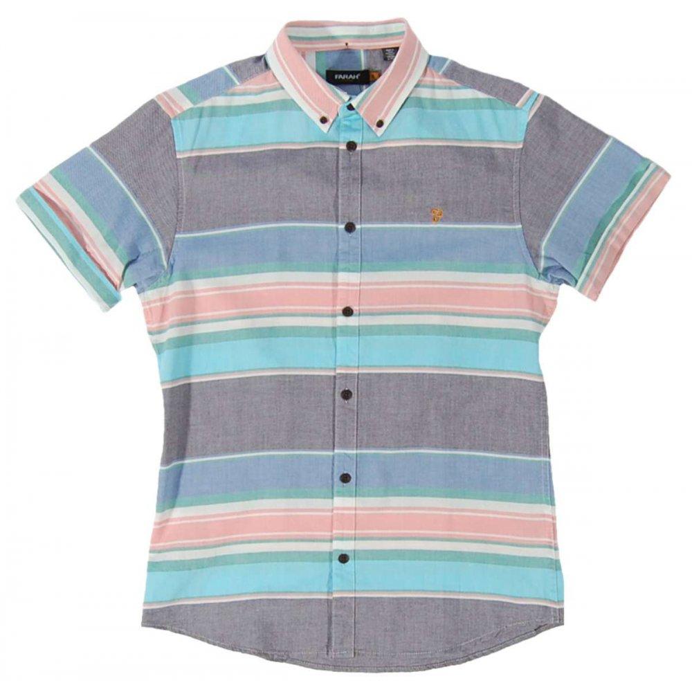 farah vintage reno stripe shirt indigo mens shirts