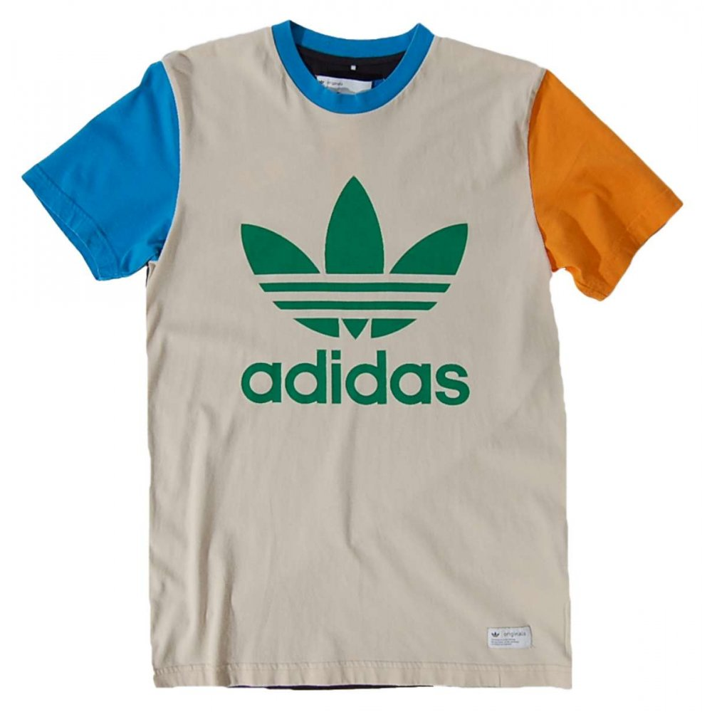 Adidas originals trefoil t shirt bliss mens t shirts for Adidas lotus t shirt