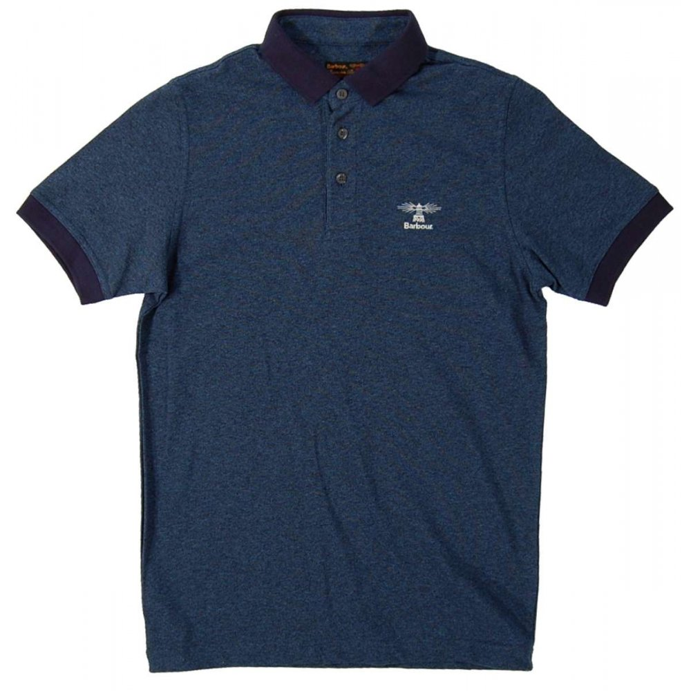barbour heritage polo navy mens polos from attic clothing uk