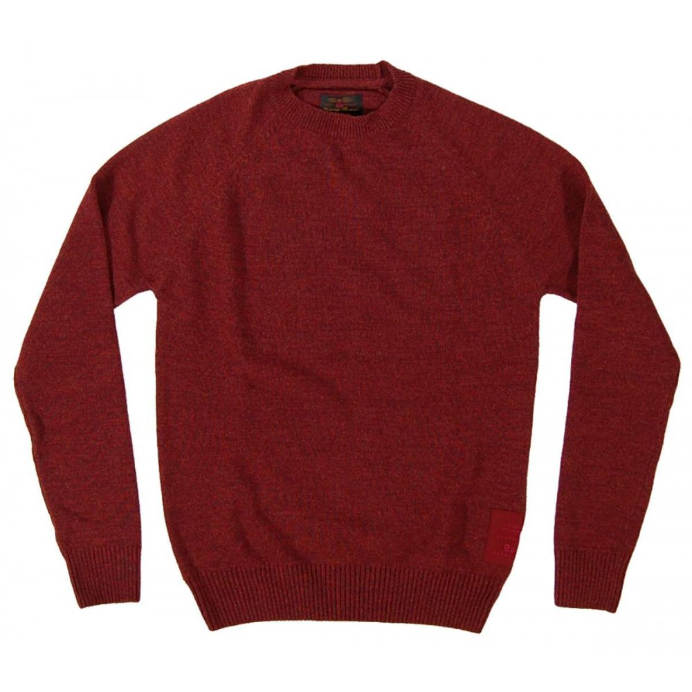 barbour staple crew jumper ruby mens knitwear from attic