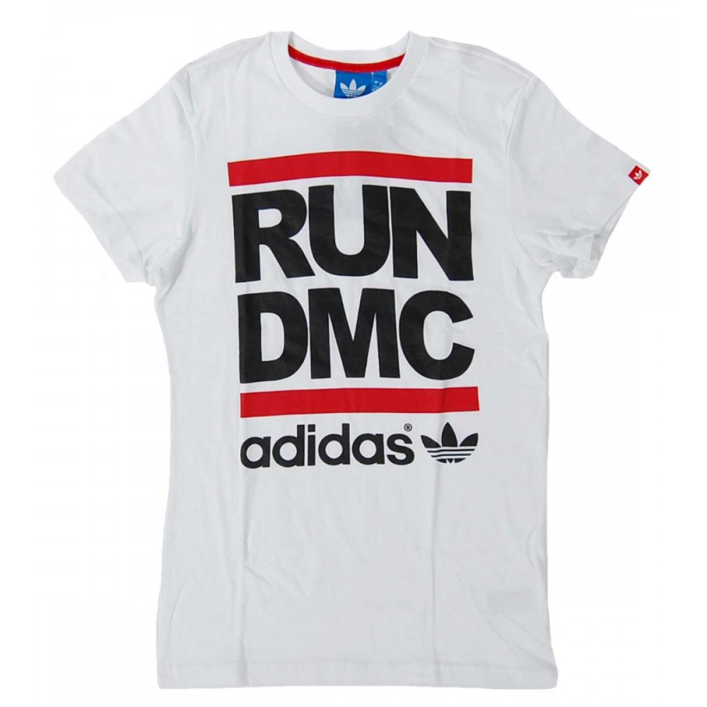 Adidas Originals Run Dmc Logo T Shirt White Mens T