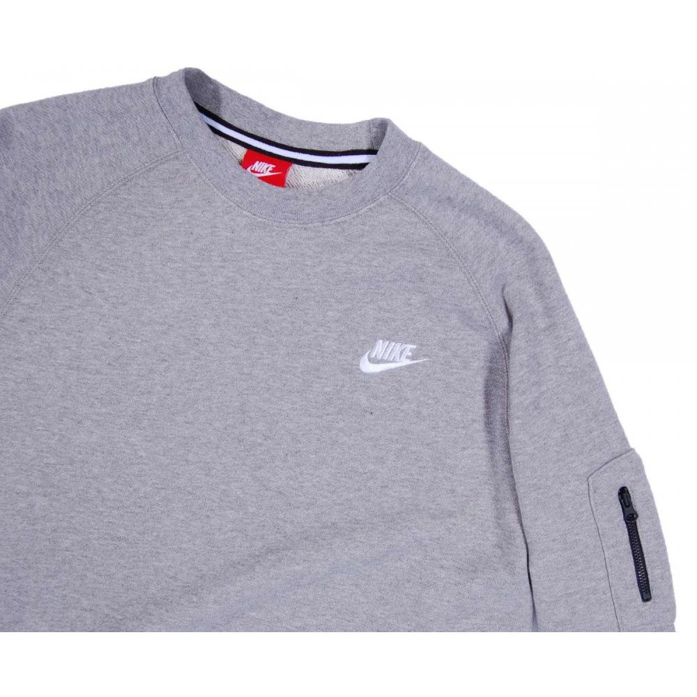 nike aw77 crew sweatshirt dark grey heather mens sweats. Black Bedroom Furniture Sets. Home Design Ideas