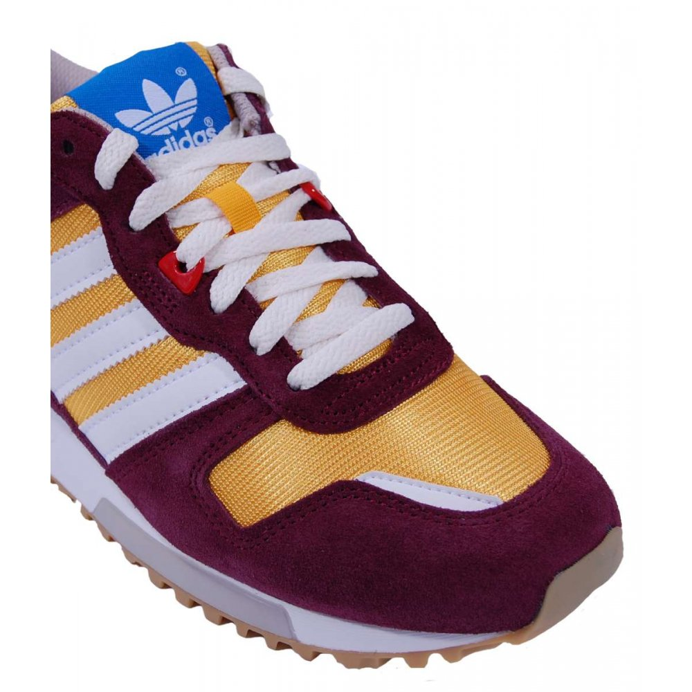 Adidas Gazelle Og Trainers In Light Maroon/Yellow