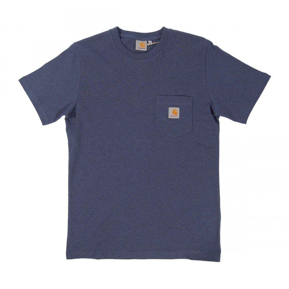 carhartt pocket t shirt blue penny heather mens t shirts. Black Bedroom Furniture Sets. Home Design Ideas