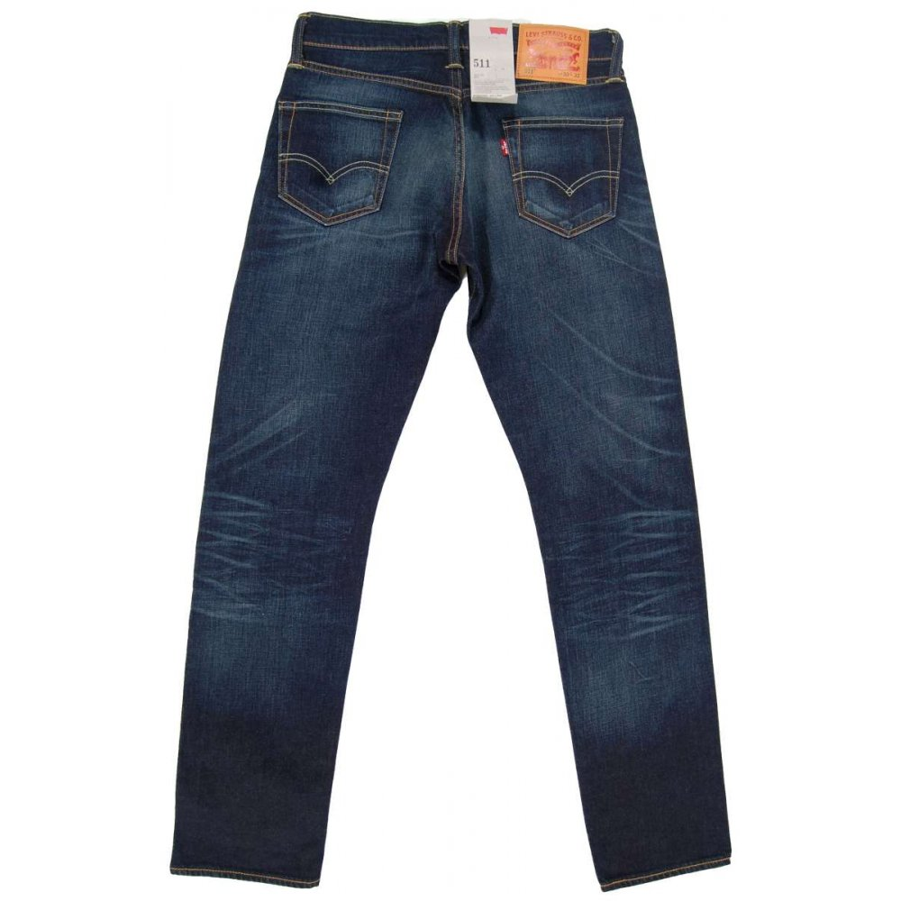 levi 39 s 511 jeans selvedge shadoo mens jeans from attic. Black Bedroom Furniture Sets. Home Design Ideas