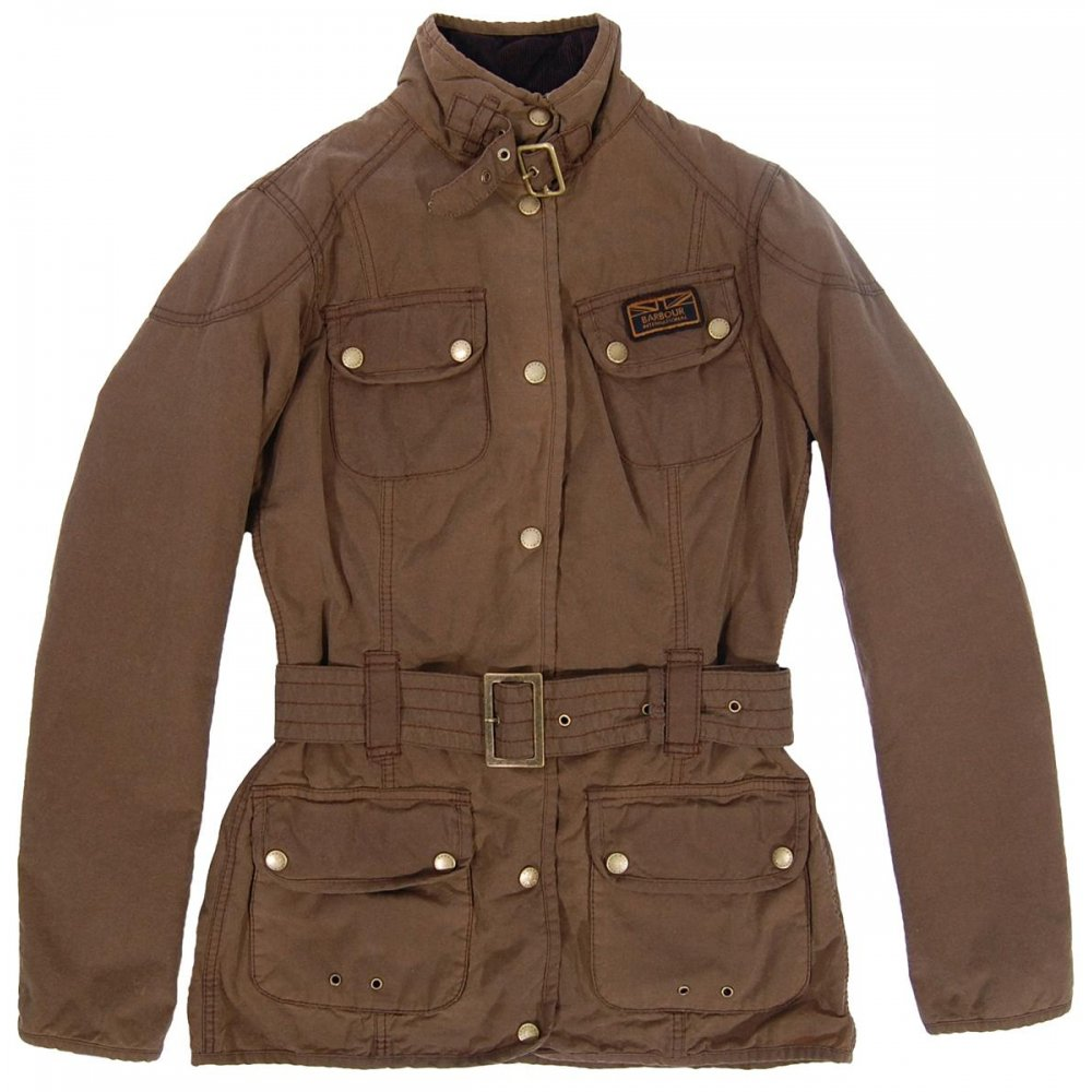 Barbour Ladies Vintage International Wax Jacket Sandstone