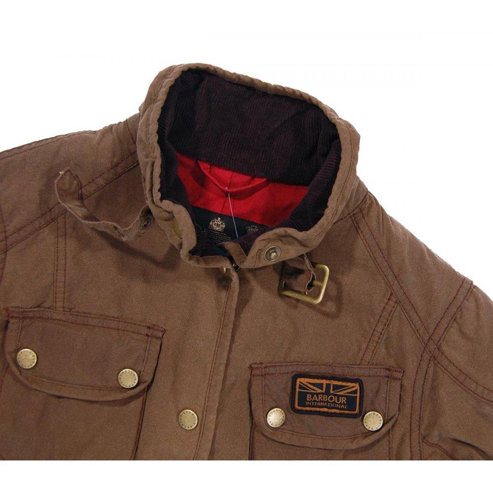 Barbour Ladies Vintage International Wax Jacket Sandstone