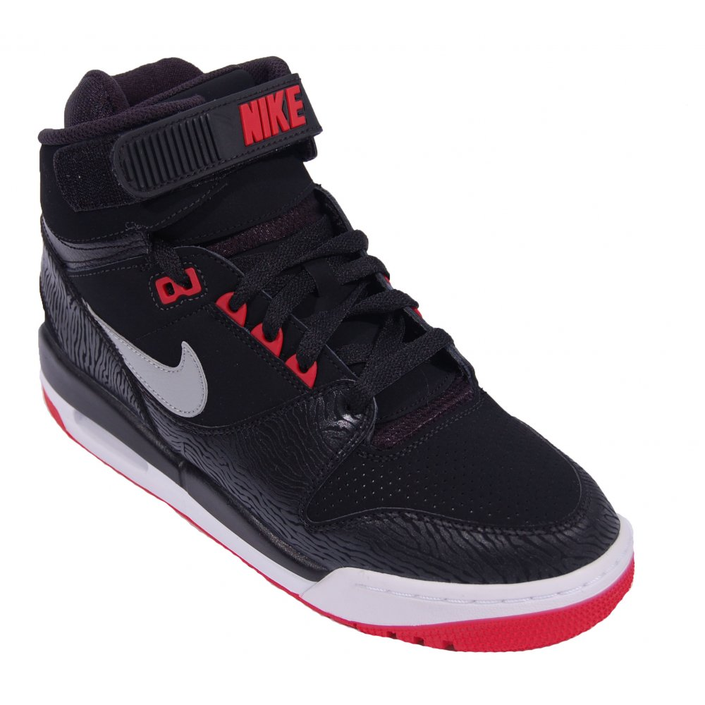 nike air revolution black university red mens shoes from. Black Bedroom Furniture Sets. Home Design Ideas