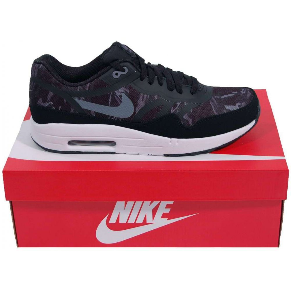 Nike Air Max 1 Premium Tape Black Camo - Mens Shoes from Attic Clothing UK
