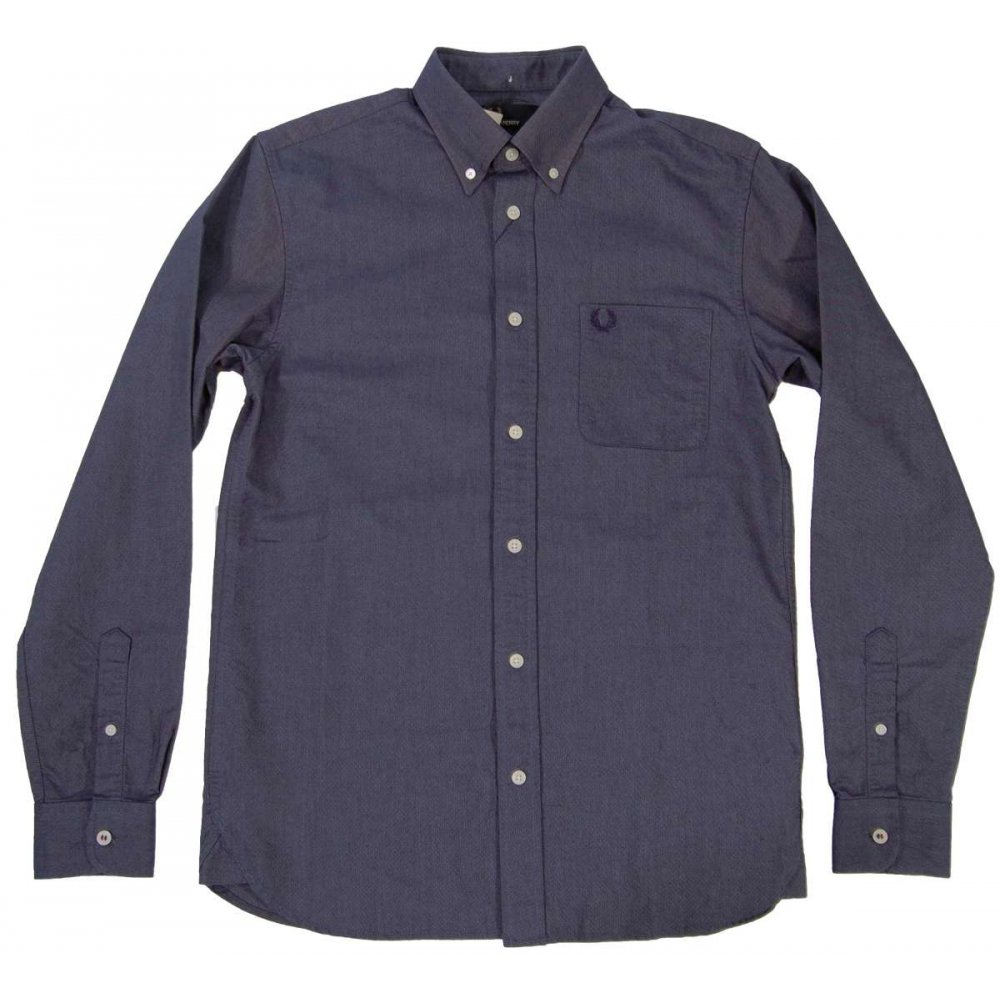 fred perry m3254 classic oxford shirt carbon mens