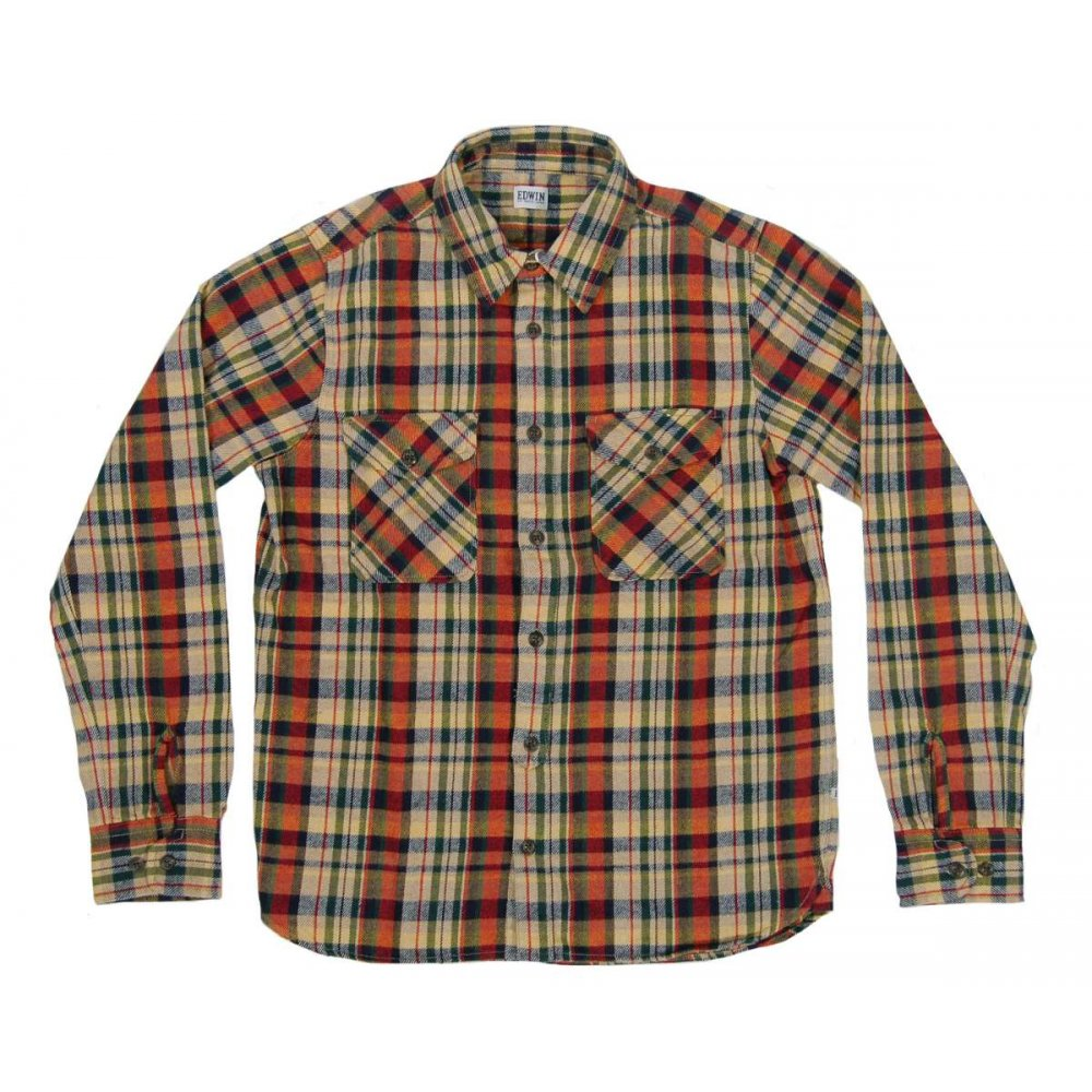 Edwin Loggerhead Shirt Heavy Flannel Check Mens Shirts