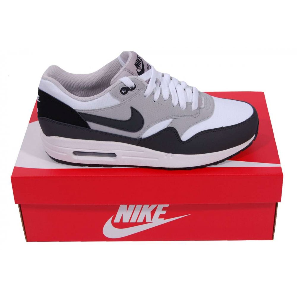 nike air max 1 essential white anthracite mens shoes. Black Bedroom Furniture Sets. Home Design Ideas
