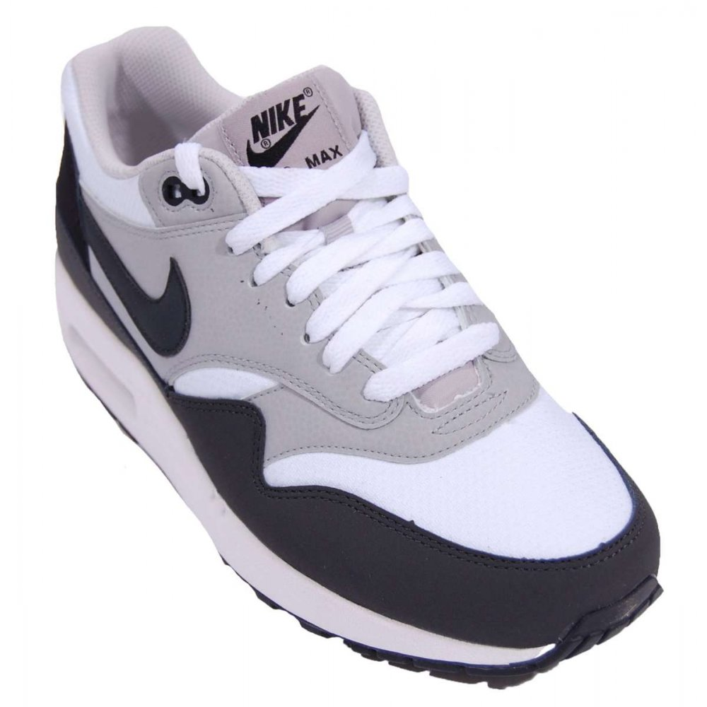 nike air max 1 essential white anthracite mens shoes from attic clothing uk. Black Bedroom Furniture Sets. Home Design Ideas