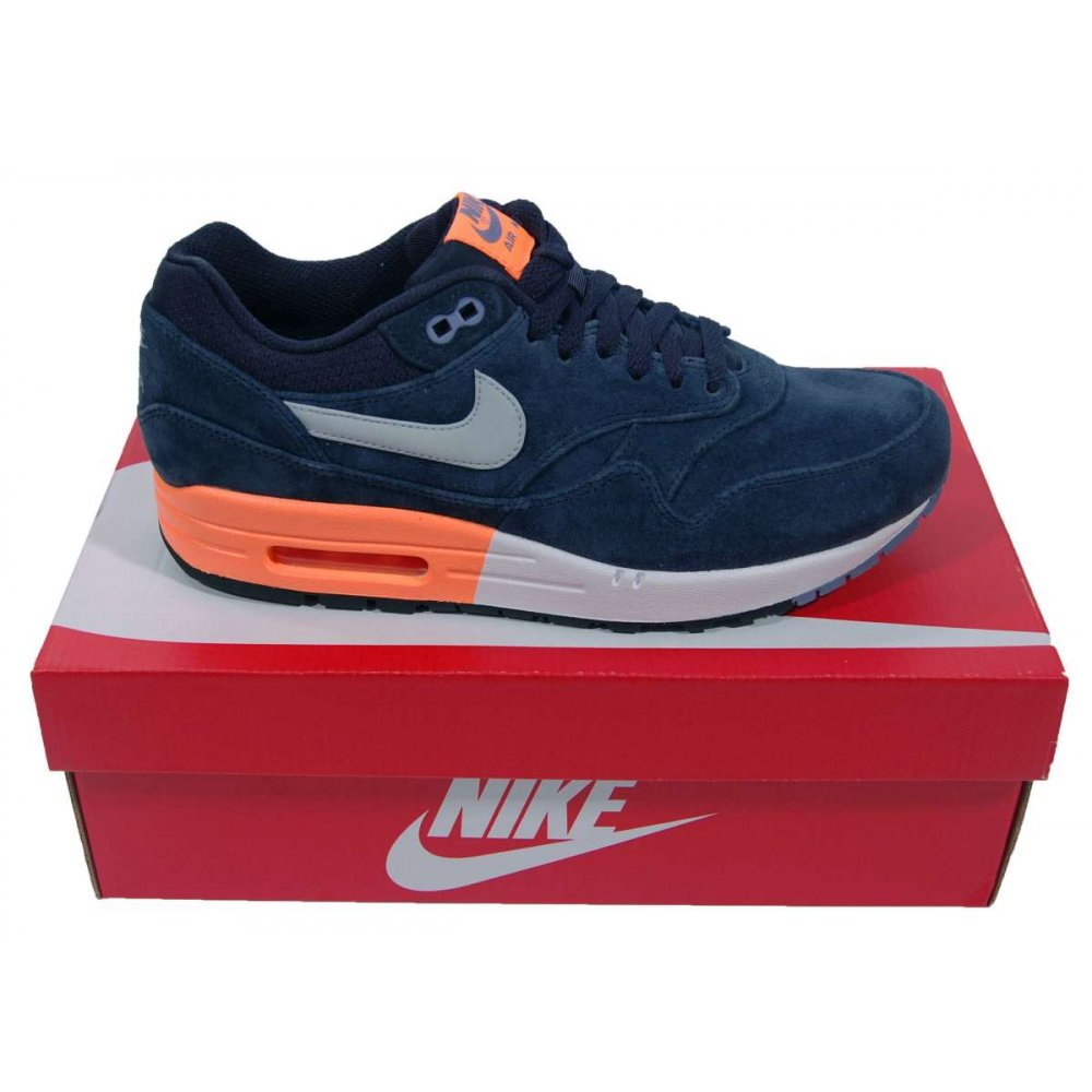 Nike Air Max 1 Navy Orange leoncamier.co.uk