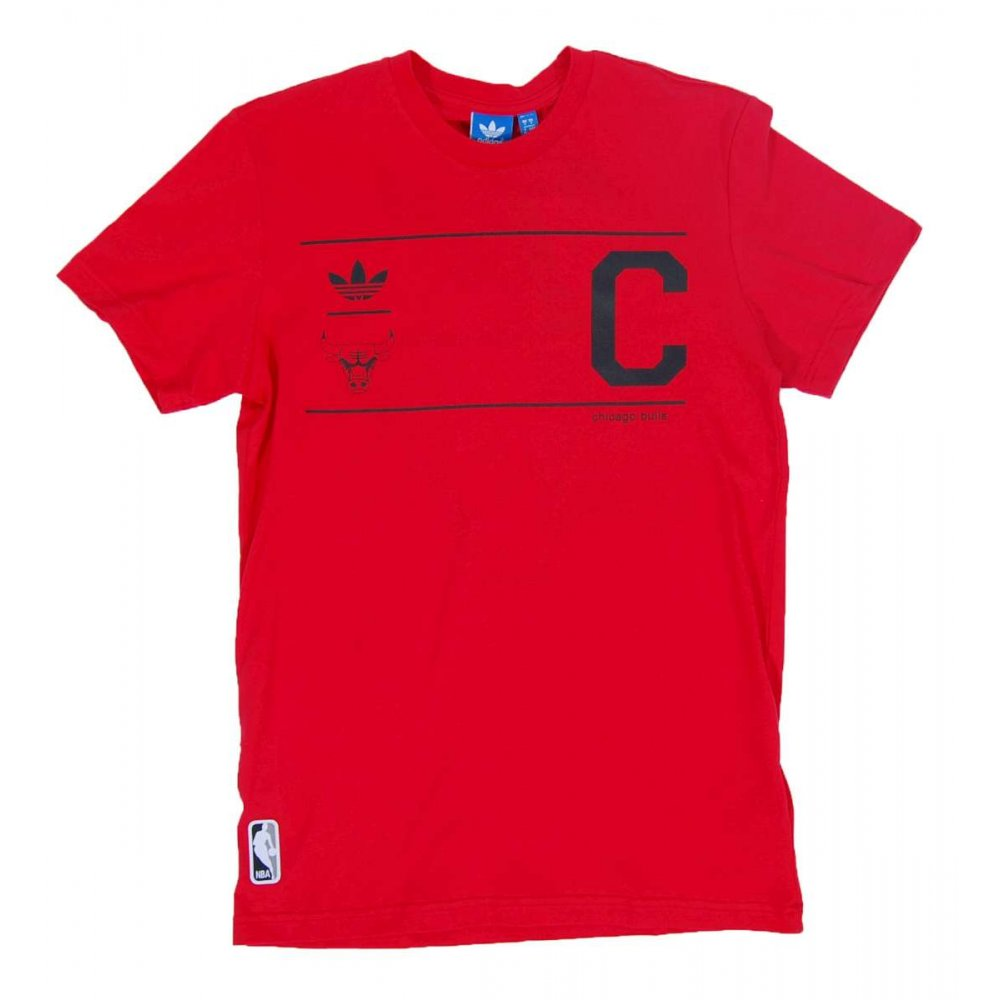 adidas originals chicago bulls t shirt red mens t shirts. Black Bedroom Furniture Sets. Home Design Ideas