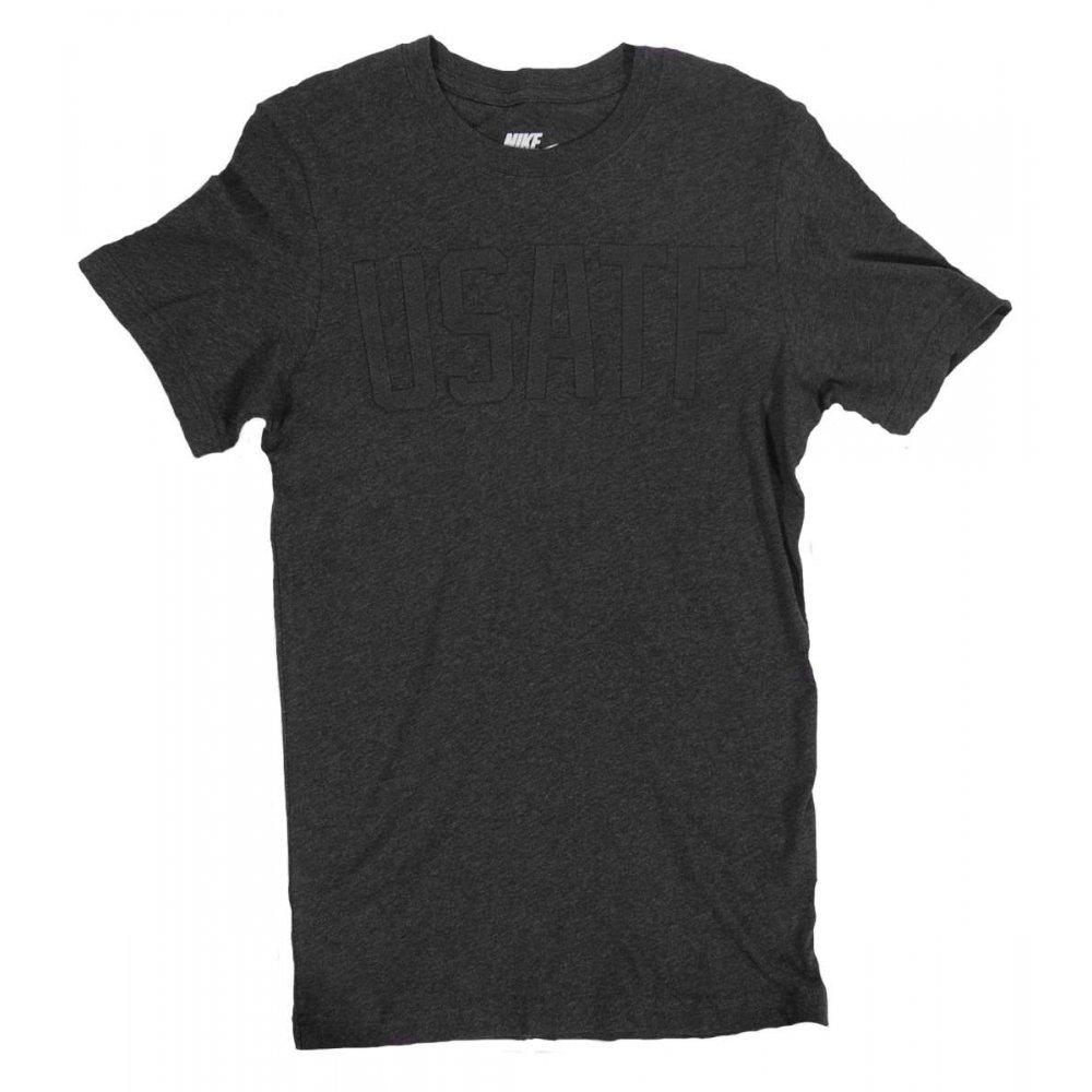 nike usatf t shirt black heather mens t shirts from