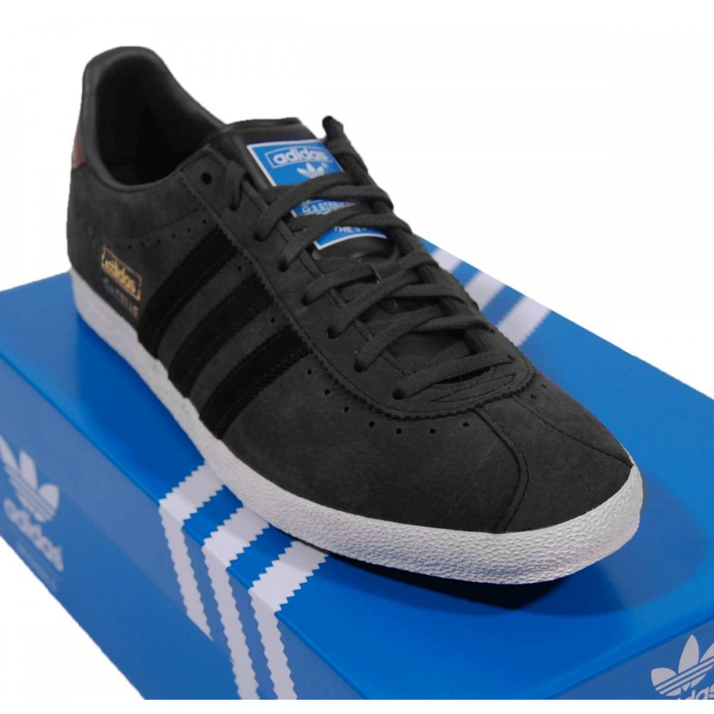 Adidas Gazelle Og Black White Suede Mens Trainers