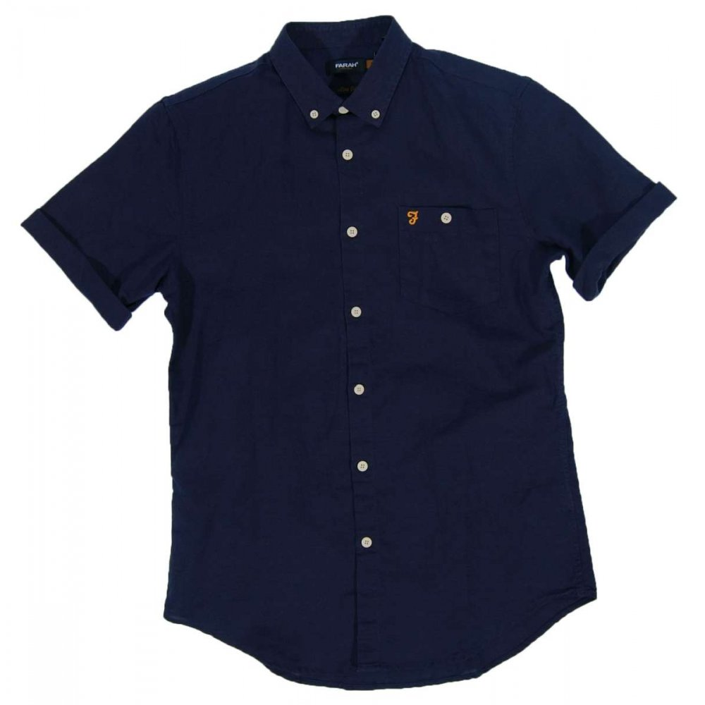 farah vintage trent shirt navy mens shirts from attic