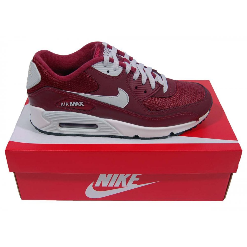 nike air max maroon and white