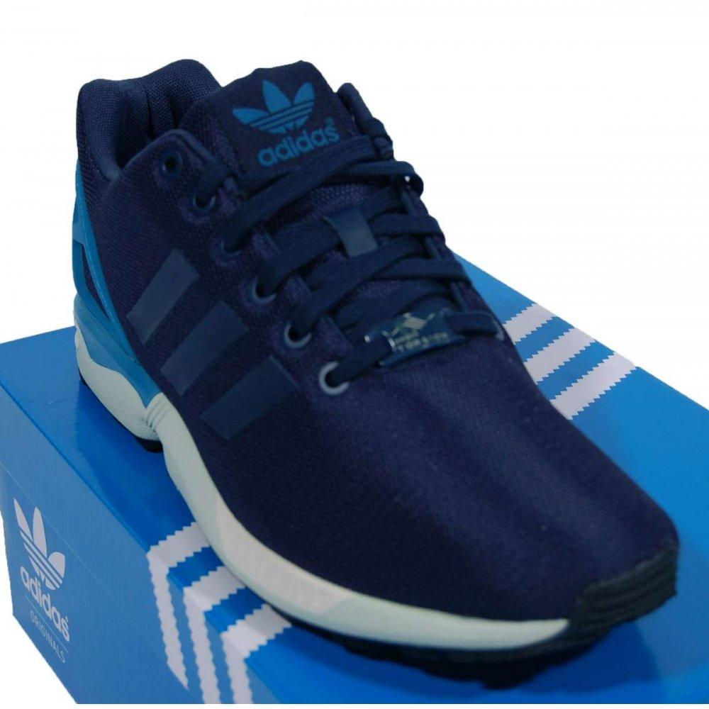 adidas originals zx flux dark blue hero blue mens shoes. Black Bedroom Furniture Sets. Home Design Ideas
