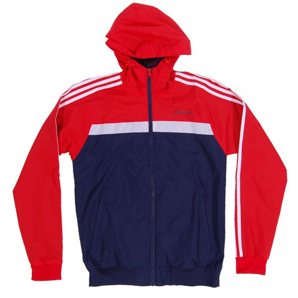 adidas originals marathon 83 jacket red collegiate navy mens jackets from attic clothing uk. Black Bedroom Furniture Sets. Home Design Ideas