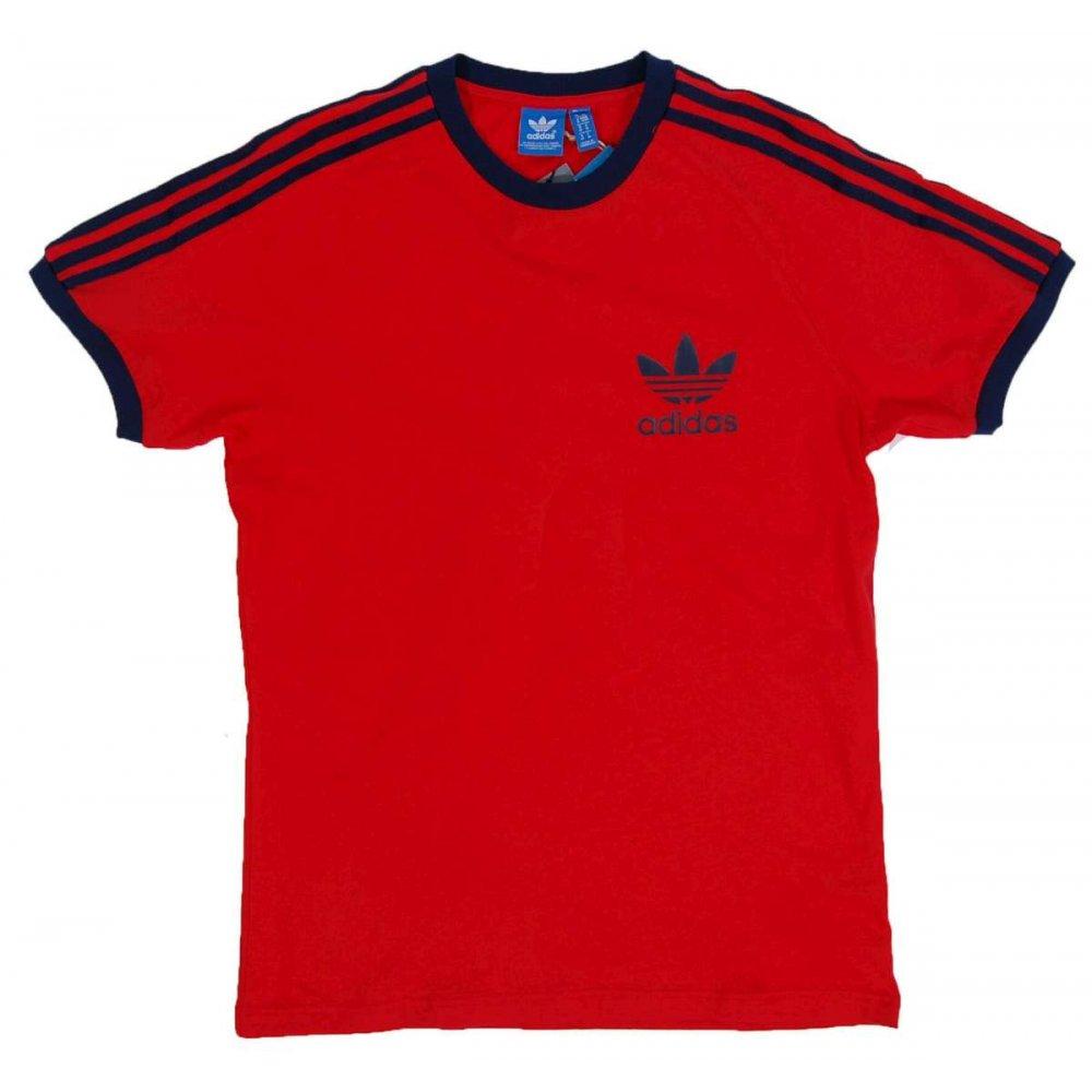 adidas originals sport essential t shirt red mens t shirts from attic clothing uk. Black Bedroom Furniture Sets. Home Design Ideas
