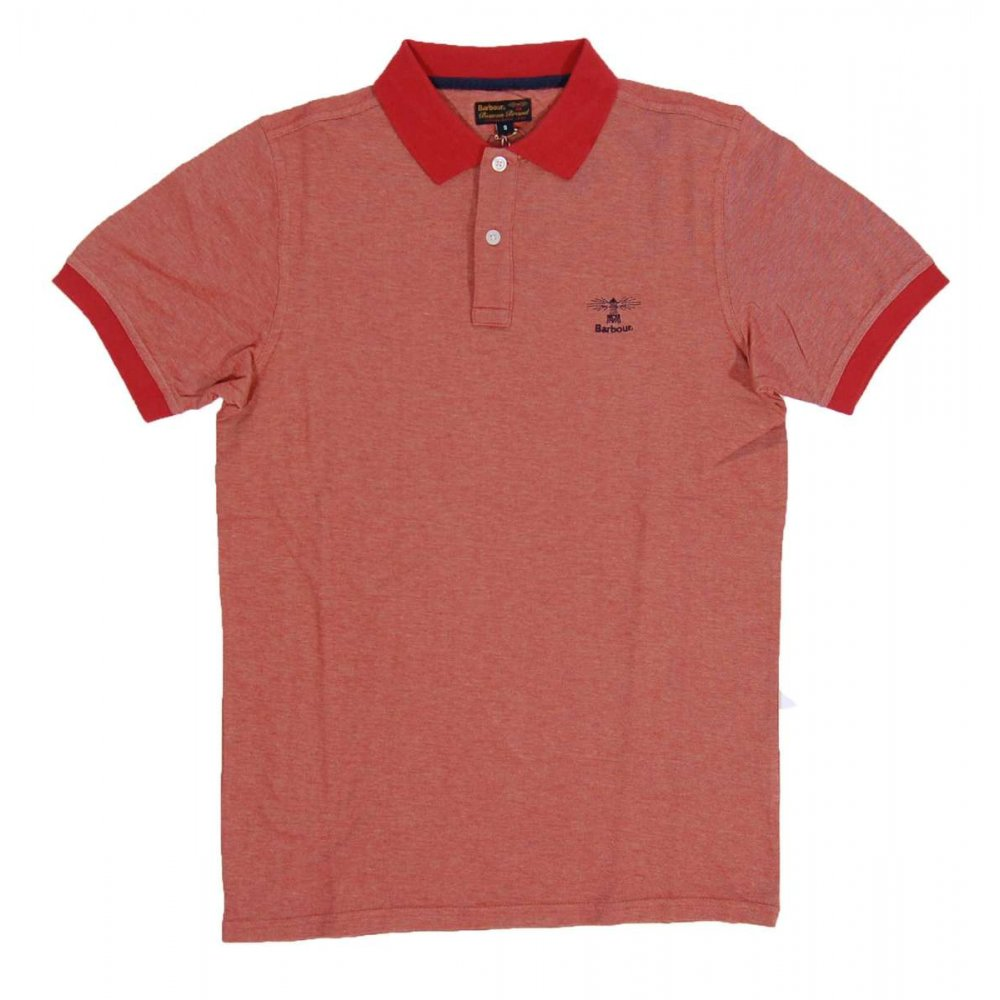 barbour staple polo mens polos from attic clothing uk