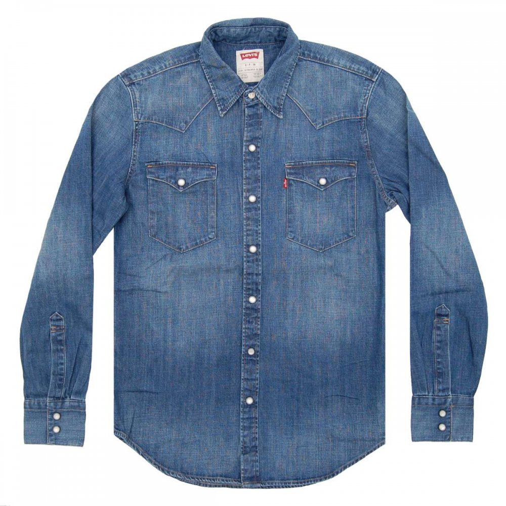 Levi 39 S Barstow Western Shirt Denim Mens Shirts From