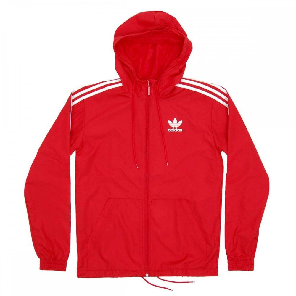Adidas Originals Itasca Windbreaker Scarlet - Mens Jackets From Attic Clothing UK