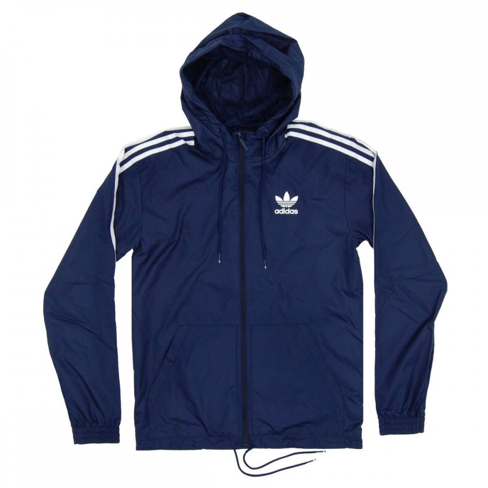 adidas originals itasca windbreaker collegiate navy mens jackets from attic clothing uk. Black Bedroom Furniture Sets. Home Design Ideas