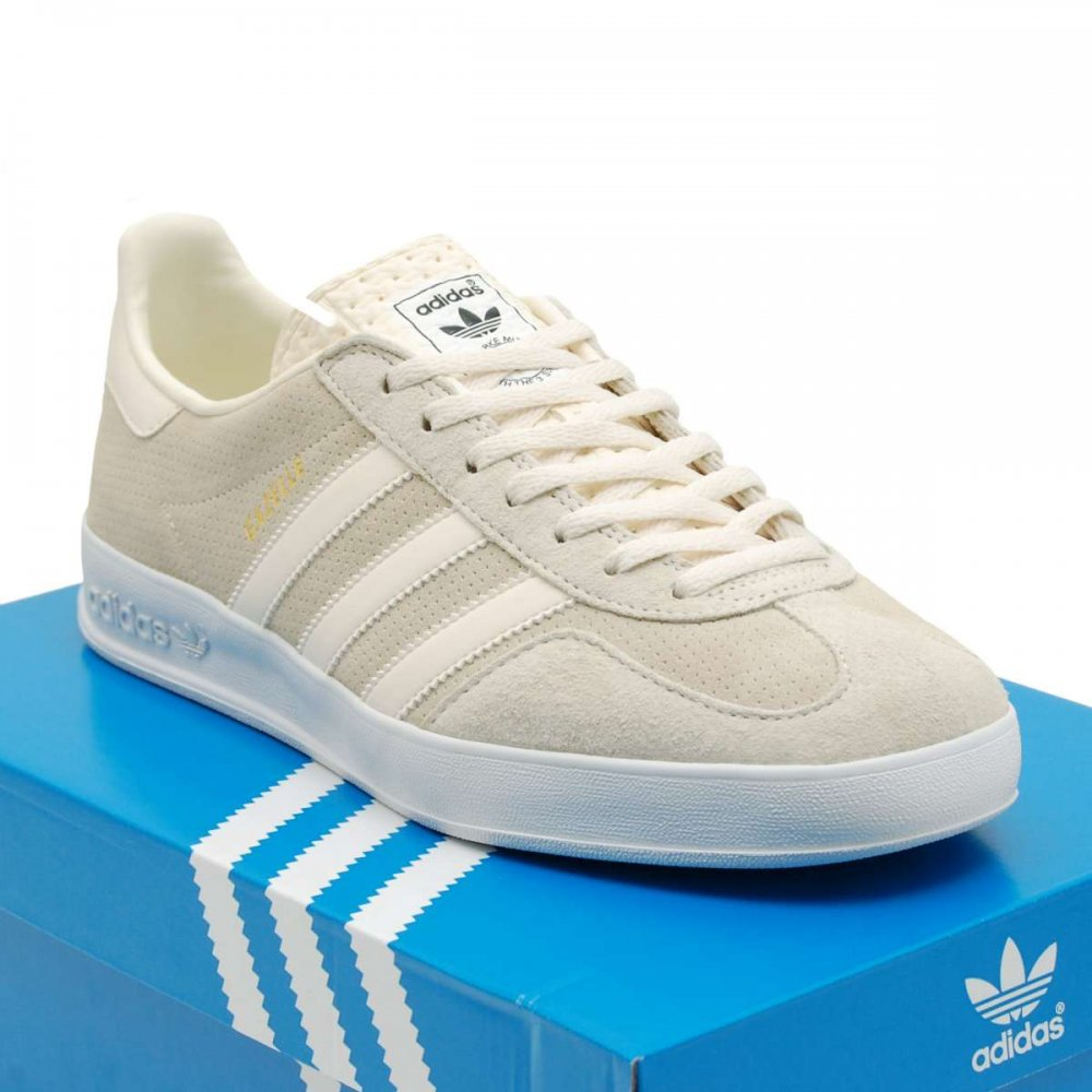 adidas originals gazelle indoor cream white mens shoes. Black Bedroom Furniture Sets. Home Design Ideas