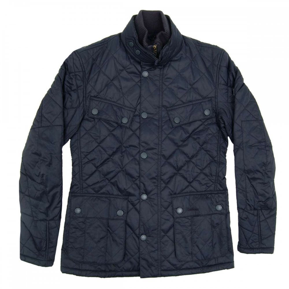 Barbour Windshield Quilted Jacket Navy Mens Jackets From