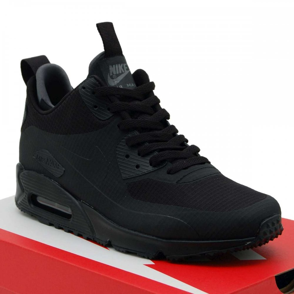 nike air max 90 mid winter black black mens shoes from. Black Bedroom Furniture Sets. Home Design Ideas