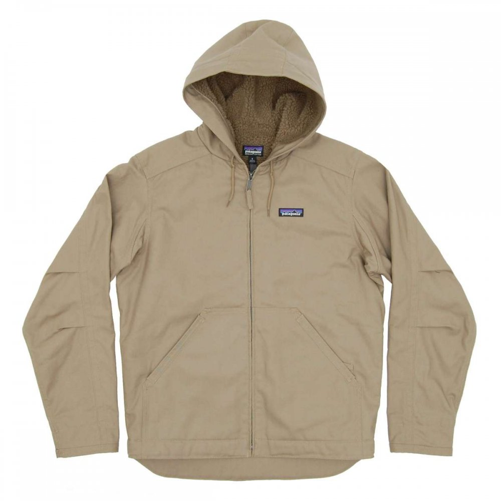 Patagonia Lined Canvas Hoody Ash Tan
