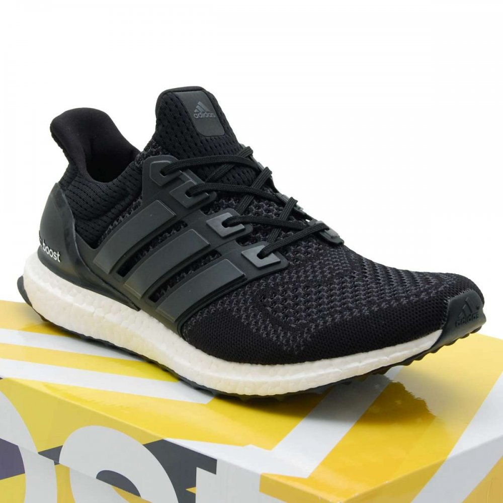 Adidas Originals Ultra Boost Core Black White - Mens Shoes from Attic Clothing UK