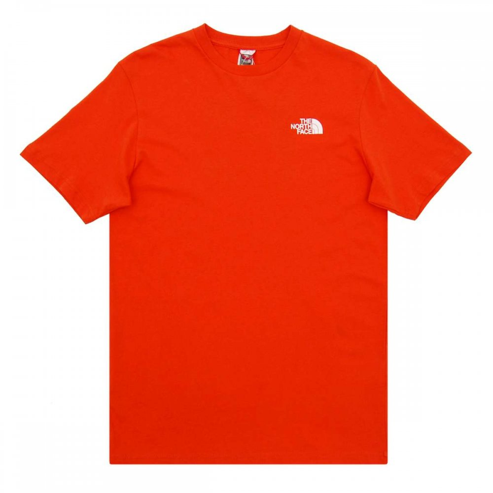 The North Face Red Box T Shirt Acrylic Orange Mens T