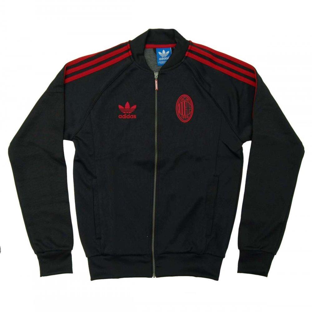 Adidas Originals Ac Milan Superstar Track Top Black