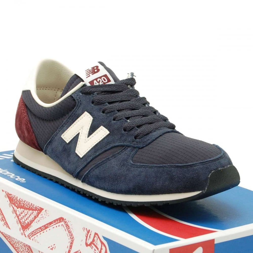 new balance u420 rnb navy mens shoes from attic clothing uk. Black Bedroom Furniture Sets. Home Design Ideas