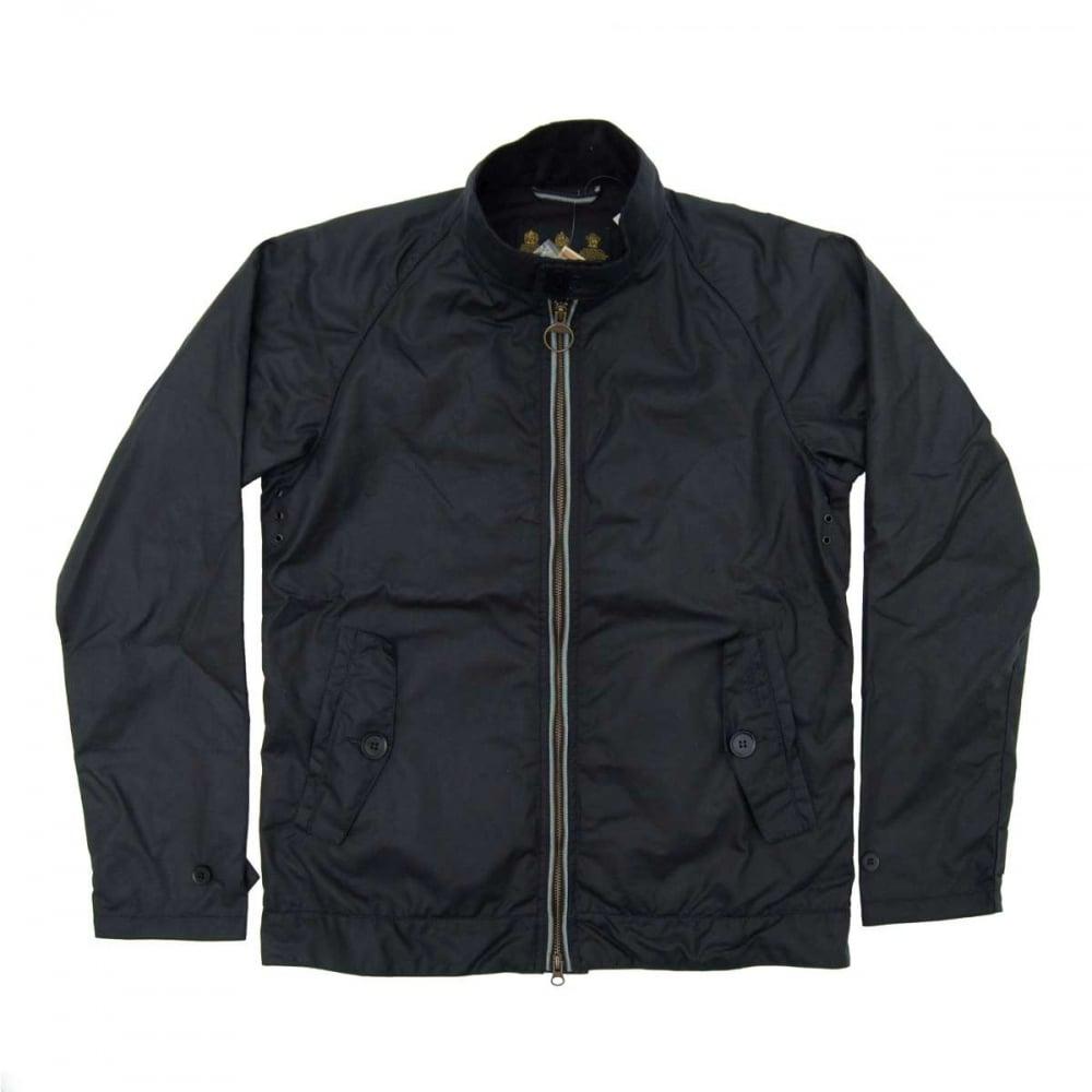 Barbour Harrington Wax Jacket Navy Mens Jackets From