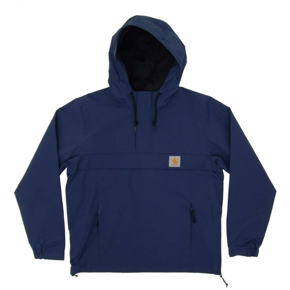 carhartt nimbus pullover jacket blue mens jackets from attic clothing uk. Black Bedroom Furniture Sets. Home Design Ideas