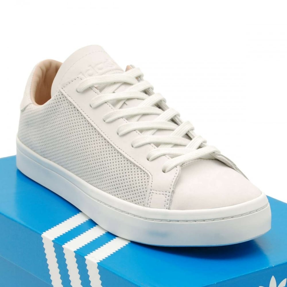 Adidas Originals Court Vantage Vintage White Dust Pearl - Mens Shoes from Attic Clothing UK