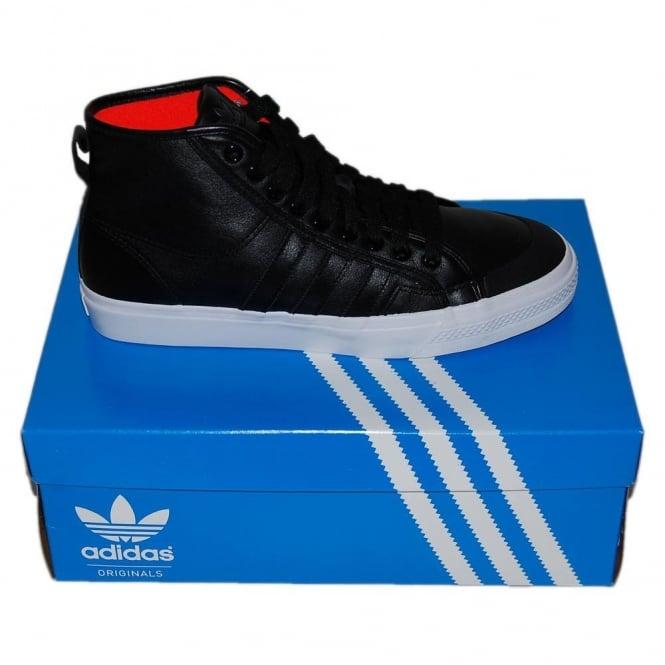 3d429a08a4c220 Adidas Originals Nizza High Black - Mens Clothing from Attic Clothing UK