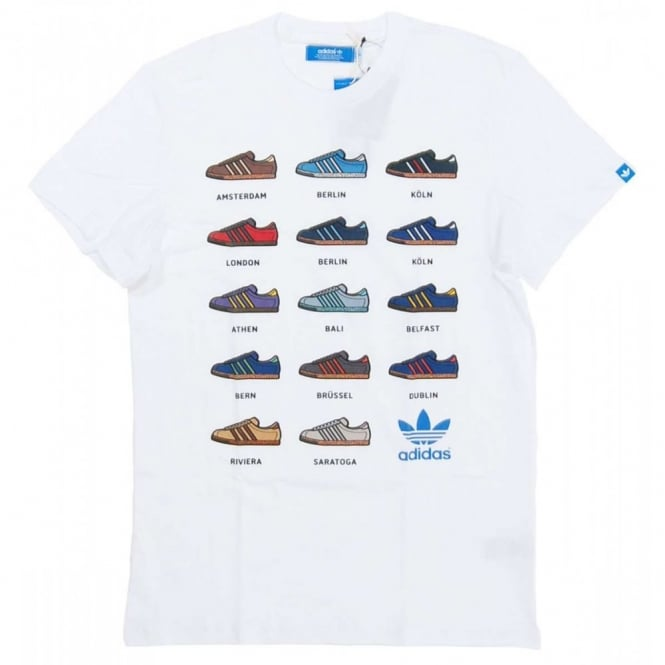 new concept 04cc7 85e67 Adidas Originals 14 Sneaker T-Shirt White - Mens Clothing from Attic  Clothing UK