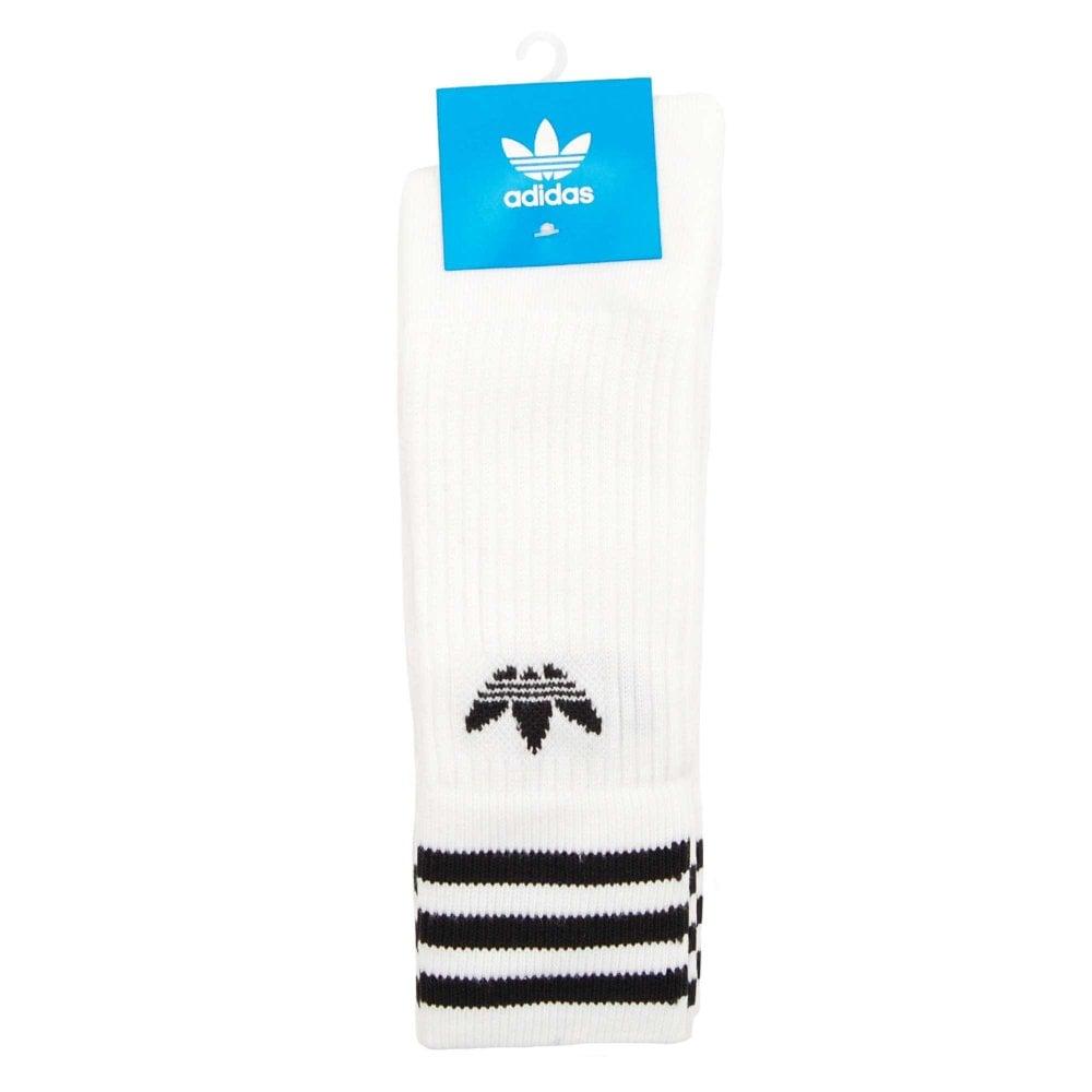 553f6bcd1 Adidas Originals 3 Pack Solid Crew Socks White Black - Mens Clothing ...