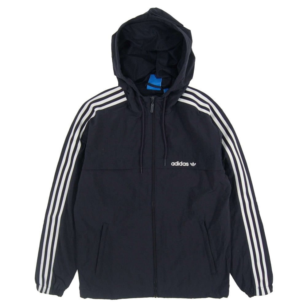 c7313c3089db Adidas Originals 3 Striped Windbreaker Legend Ink - Mens Clothing ...