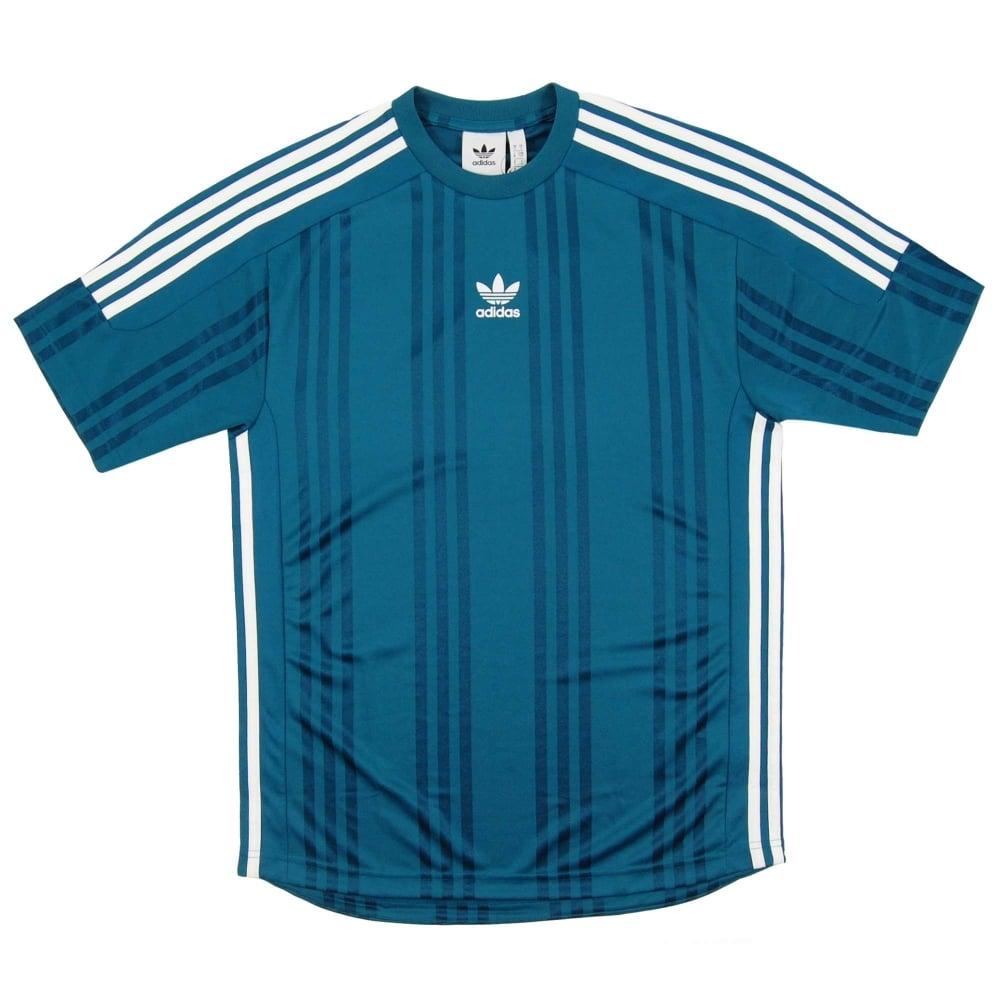 9c0e35fed3 Adidas Originals 3 Stripes Jacquard Jersey Real Teal White CE1635 ...