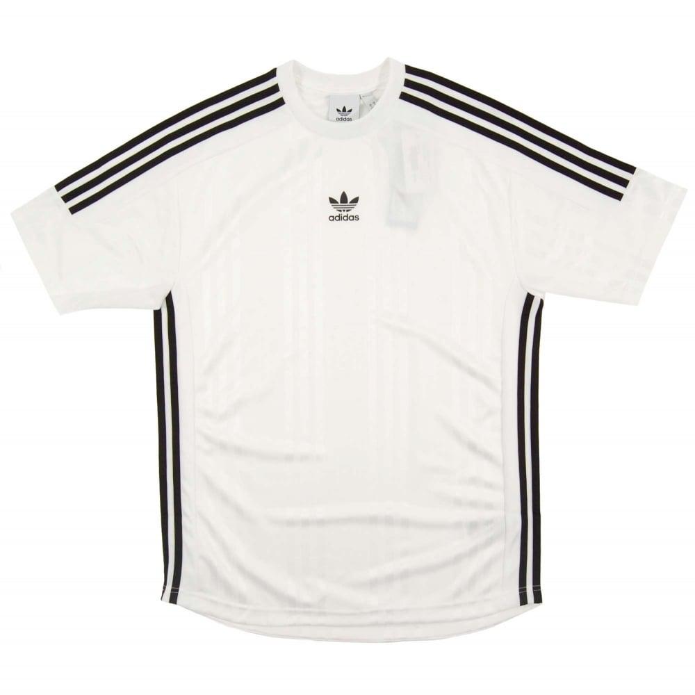 de4b94dc2b Adidas Originals 3 Stripes Jacquard Jersey White Black - Mens ...