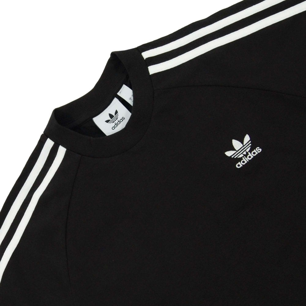 Adidas Originals 3 Stripes LS T Shirt White Black
